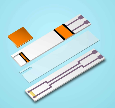 Spacer tape adhesives for medical devices