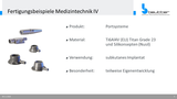 Components for medical technology