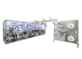 High speed 4-side-sealing machine for the integration into converting machines