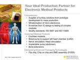 Kompetenz in der Herstellung von Cochlea-Implantaten