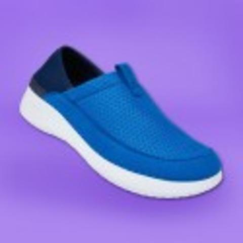 feel flex medium blue sneakers (2)