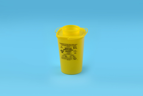 Sharps Container 0.8 lt - P SERIES