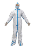 Disposable Protective Coverall with Tape and Shoe Covers