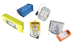 Original batteries and pads for AED
