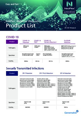Genematrix Product List