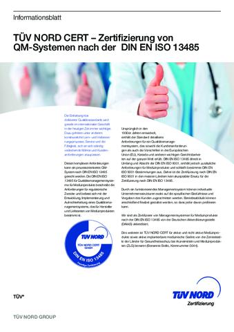Produktdatenblatt ISO 13485