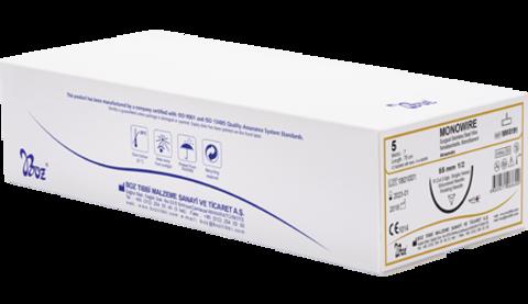 monowire non absorbable surgical suture box emilemeyen cerrahi ameliyat ipliği sütürü kutu boz tıbbi malzemeler