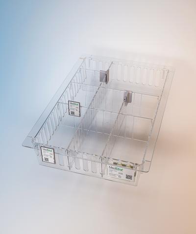 Clear polycarbonate Medstor tray