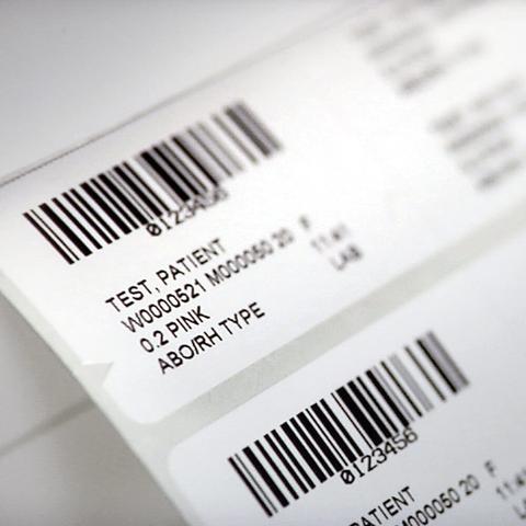 Printed hospital labels