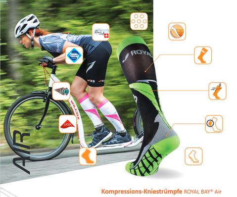 Compression knee socks ROYAL BAY® Air