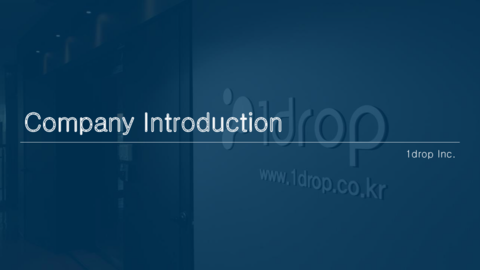 Company Introduction 1drop EN