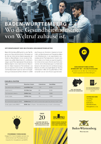 Fact Sheet - Gesundheitsindustrie in Baden-Württemberg