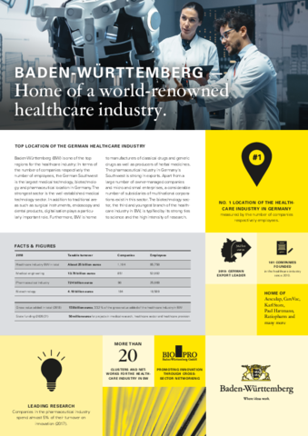 Fact Sheet- Medical Industry in Baden-Württemberg