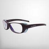 MAVIG BR126 - X-Ray Protective Glasses with side radiation protection_Cocoa/Light Blue