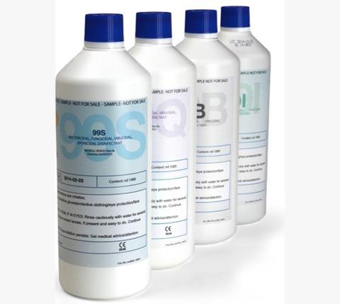99T's Sortiment an Desinfektionslösungen für die automatisierte Oberflächendesinfektion von 99T