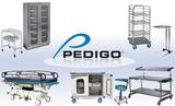 Instrumententische, Fallwagen, Krankentragen und Chirurgenstühle