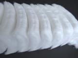 Pre-cut zig-zag cotton wool