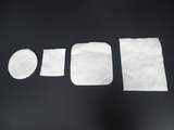 Square and round cotton pads