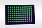 Fluorescent green plate