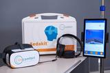"""""""Oncomfort präsentiert sein auf Virtual Reality basierendes medizinisches Gerät Digital Sedation™ für die Sedierung."""