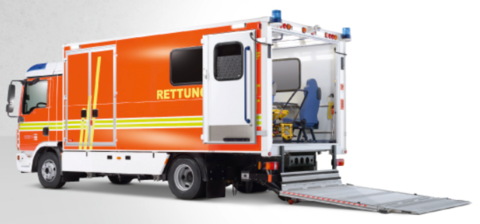 MULTIFUNCTIONAL VEHICLE HEAVY-DUTY INFECTION AND INTENSIVE CARE TRANSPORT VEHICLE